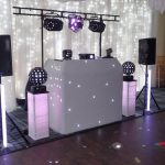 Beano Disco set up for a wedding