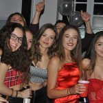 Young girls enjoying a party