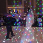 Bride & groom dancing on dancefloor
